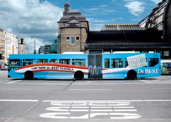 جذاب ترین تبلیغات های روی اتوبوس